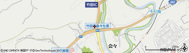 大分県竹田市会々1197周辺の地図