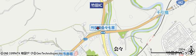 大分県竹田市会々1198周辺の地図