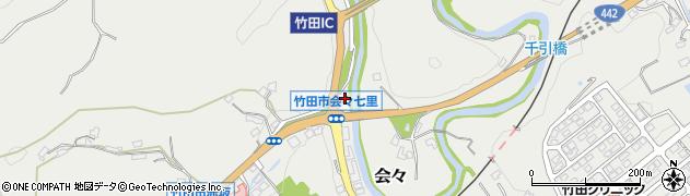 大分県竹田市会々1237周辺の地図