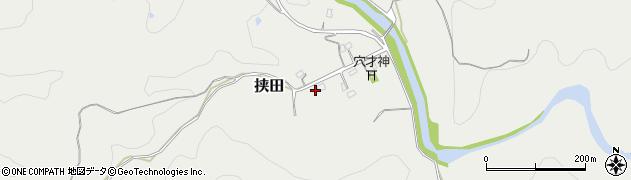 大分県竹田市挟田391周辺の地図