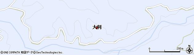 熊本県産山村(阿蘇郡)大利周辺の地図