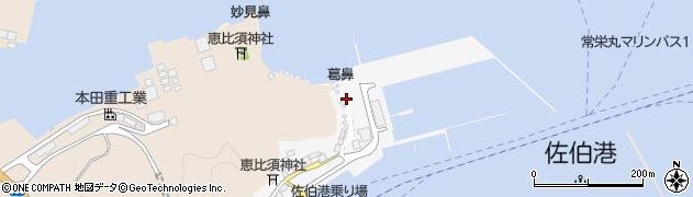 大分県佐伯市葛港17周辺の地図