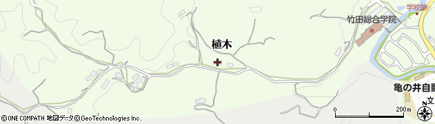 大分県竹田市植木550周辺の地図