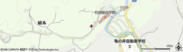 大分県竹田市植木630周辺の地図