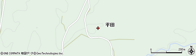 大分県竹田市平田3448周辺の地図