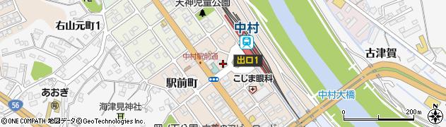 高知県四万十市駅前町周辺の地図