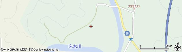 大分県佐伯市弥生大字床木大向周辺の地図