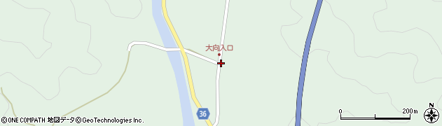 大分県佐伯市弥生大字床木304周辺の地図