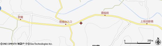 大分県竹田市炭竈周辺の地図