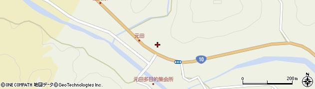 大分県佐伯市弥生大字大坂本1724周辺の地図