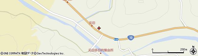 大分県佐伯市弥生大字大坂本1720周辺の地図