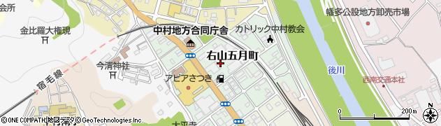 高知県四万十市右山五月町周辺の地図