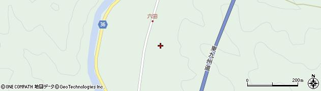 大分県佐伯市弥生大字床木六田周辺の地図