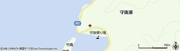 大分県佐伯市守後浦836周辺の地図