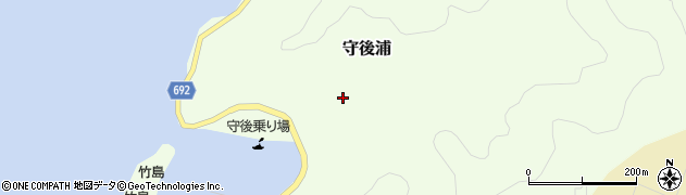 大分県佐伯市守後浦869周辺の地図