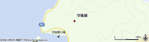 大分県佐伯市守後浦894周辺の地図