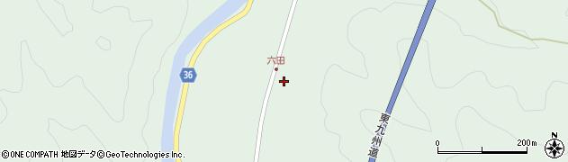 大分県佐伯市弥生大字床木516周辺の地図