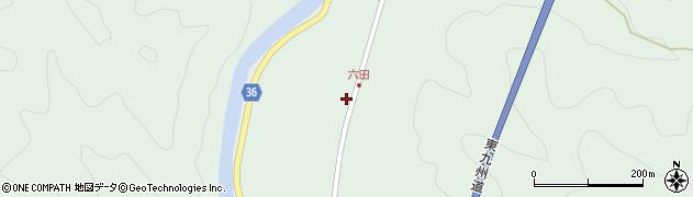 大分県佐伯市弥生大字床木518周辺の地図