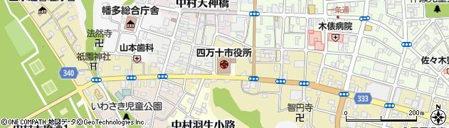 高知県四万十市周辺の地図