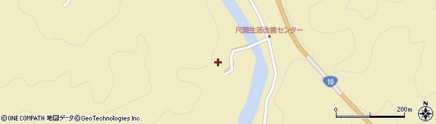 大分県佐伯市弥生大字尺間2965周辺の地図