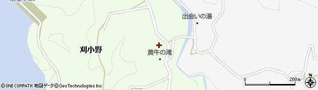 大分県竹田市刈小野332周辺の地図