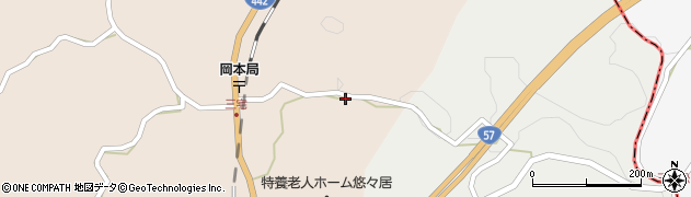大分県竹田市三宅1706周辺の地図
