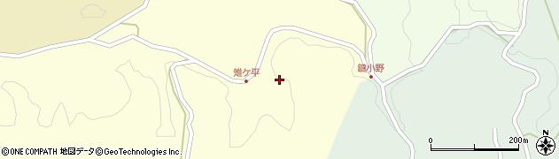 大分県竹田市米納雉ケ平周辺の地図