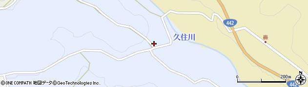 大分県竹田市下坂田周辺の地図