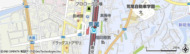 熊本県荒尾市周辺の地図