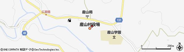 熊本県産山村(阿蘇郡)周辺の地図