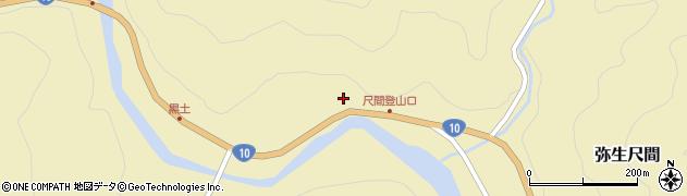 大分県佐伯市弥生大字尺間1075周辺の地図