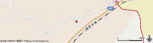 大分県竹田市三宅家古屋周辺の地図