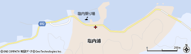 大分県佐伯市塩内浦139周辺の地図