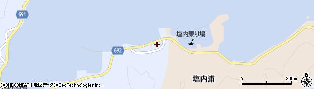 大分県佐伯市塩内浦21周辺の地図