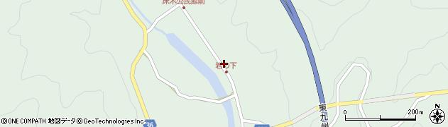 大分県佐伯市弥生大字床木1288周辺の地図