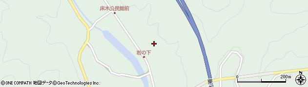 大分県佐伯市弥生大字床木1258周辺の地図