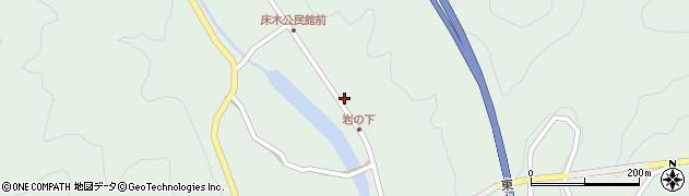 大分県佐伯市弥生大字床木1293周辺の地図