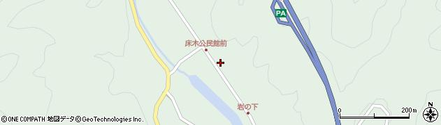 大分県佐伯市弥生大字床木1343周辺の地図