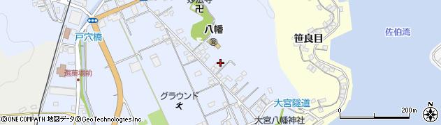 大分県佐伯市戸穴21周辺の地図