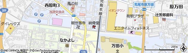 祖霊廟周辺の地図