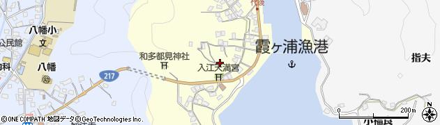 大分県佐伯市霞ケ浦代後西周辺の地図