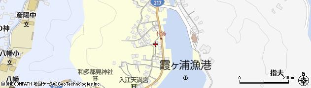大分県佐伯市霞ケ浦周辺の地図