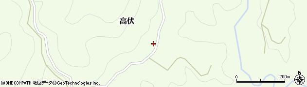 大分県竹田市高伏742周辺の地図