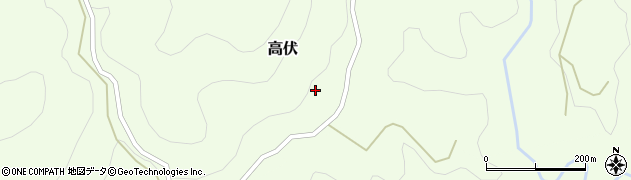 大分県竹田市高伏737周辺の地図