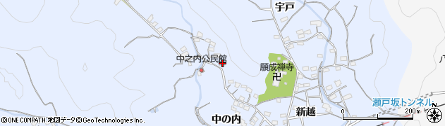 大分県佐伯市戸穴2004周辺の地図
