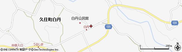 大分県竹田市久住町大字白丹4476周辺の地図