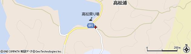 大分県佐伯市高松浦186周辺の地図