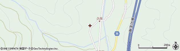 大分県佐伯市弥生大字床木2186周辺の地図