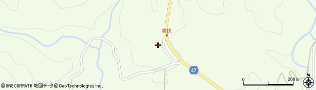 大分県竹田市高伏1027周辺の地図