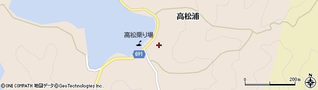 大分県佐伯市高松浦576周辺の地図